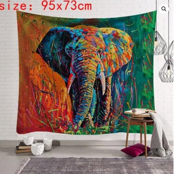 tenture mandala indien elephant indien