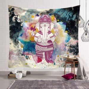 tenture murale suspendue elephant indien