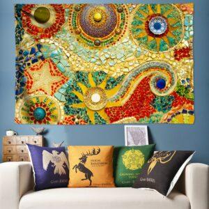 Tapisserie murale Plage Bohème | Tissu suspendu, tapisserie grande taille