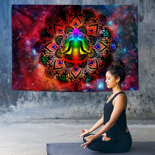 Tenture murale Mandala indienne Chakra