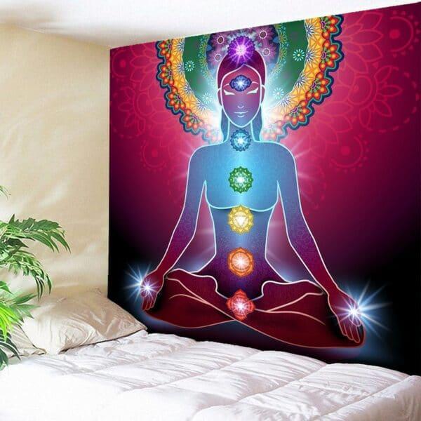Tenture murale de Mandala bouddha
