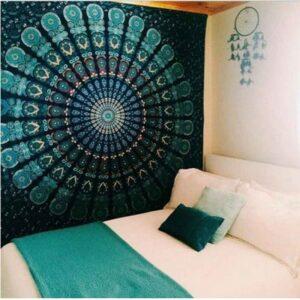Tapisserie Mandala Murale | 200cmX140cm | Tenture indienne