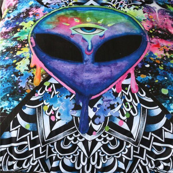 Tapisserie murale Alien | Tenture Hippie pour maison, tapis de yoga