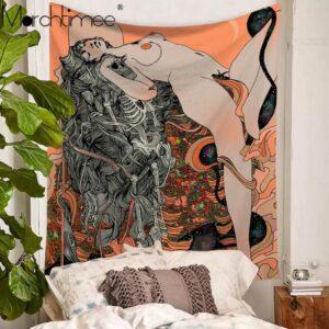 Tenture psychédélique femme | Tapisserie murale