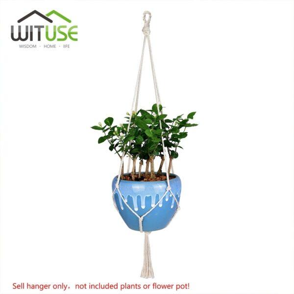 Macramé Support de plantes cintre crochet support de pot de fleur   Art mural maison jardin balcon