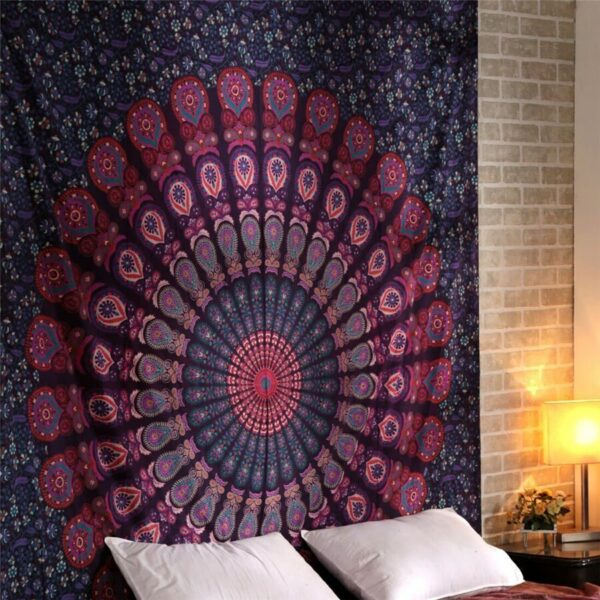 Tenture murale indienne de grande taille | Tapisserie murale indienne, de Mandala, tenture murale