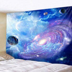 Tenture murale de Mandala indien | Décor à ciel étoilé