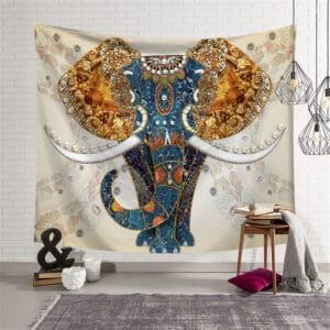 Tenture murale motif d'éléphant