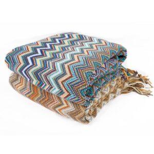 Plaid/couvre lit Indien, doux, tricoté, Manta couverture pour lit canapé