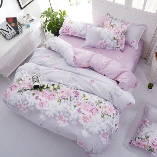 Plaid/couvre lit motif floral | Linge de lit, parure de lit