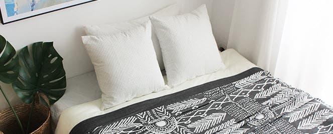 plaid couvre lit indien