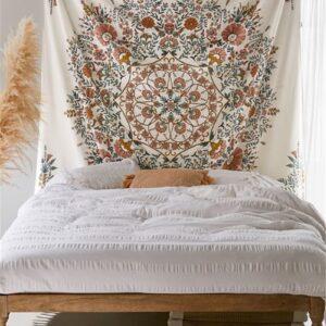 tenture murale hippie boheme motif floral