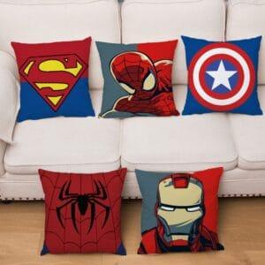 Housse de coussin motif de Super héros 45x45cm | motif de dessin animé, Marvel Iron Man