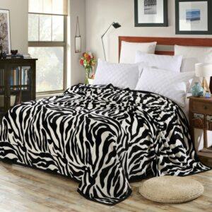Plaid/Couvre-lit Super confortable doux feutrage couverture zèbré canapé/lit
