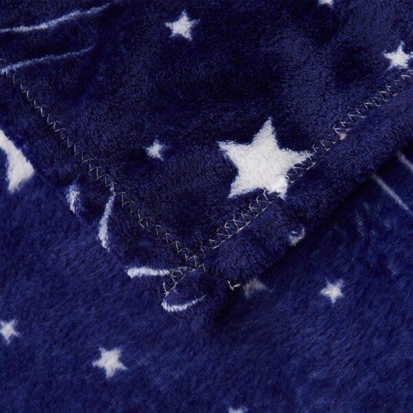 Couverture Plaid Ciel Étoilé | Bleu avec étoiles