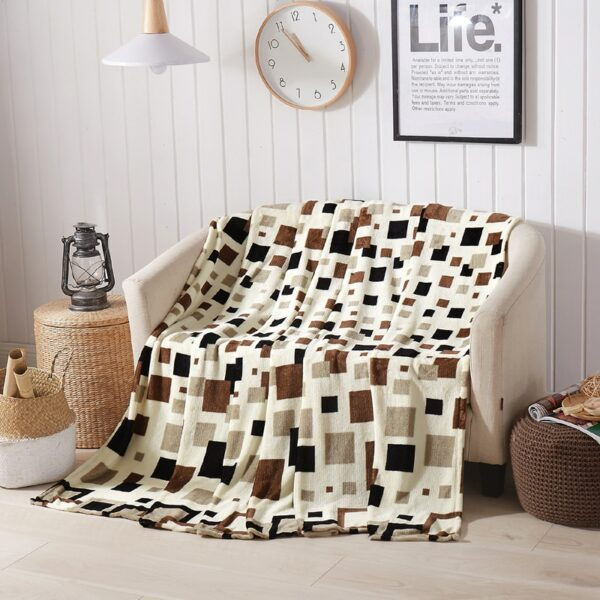Couvre-Lit Plaid Forme Rectangle | Formes colorées