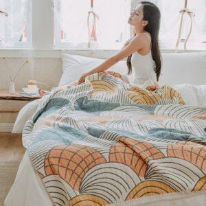 Couverture, Plaid ou couvre-lit en mousseline de lit | 100% coton, couverture d'automne canapé, Style indien